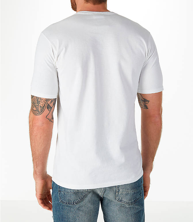 Back Left view of Men's Champion C Patch T-Shirt in White