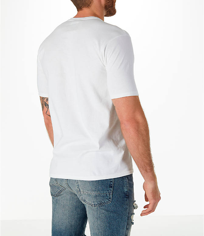 Back Right view of Men's Champion C Patch T-Shirt in White