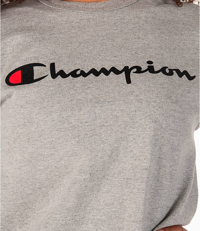 Detail 1 view of Women's Champion Heritage HBR T-Shirt in Oxford Grey