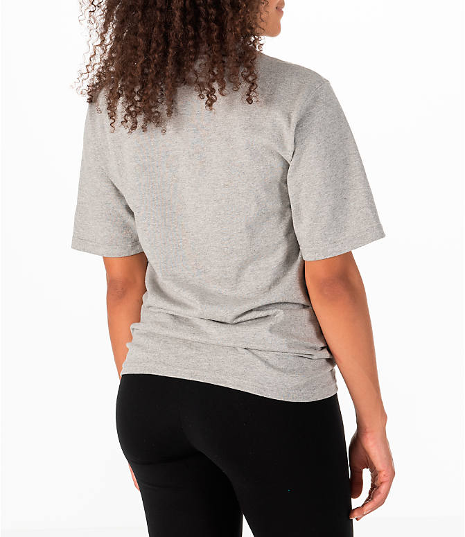 8e7a2b6b21f3 Back Right view of Women's Champion Heritage HBR T-Shirt in Oxford Grey