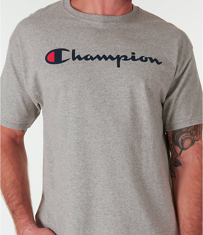 Detail 1 view of Men's Champion Graphic Jersey T-Shirt in Oxford Grey