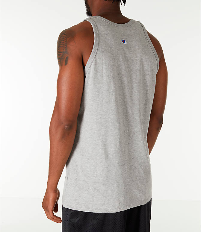 Back Left view of Men's Champion Script Tank