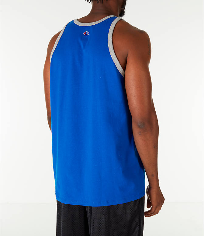 Back Right view of Men's Champion Script Tank