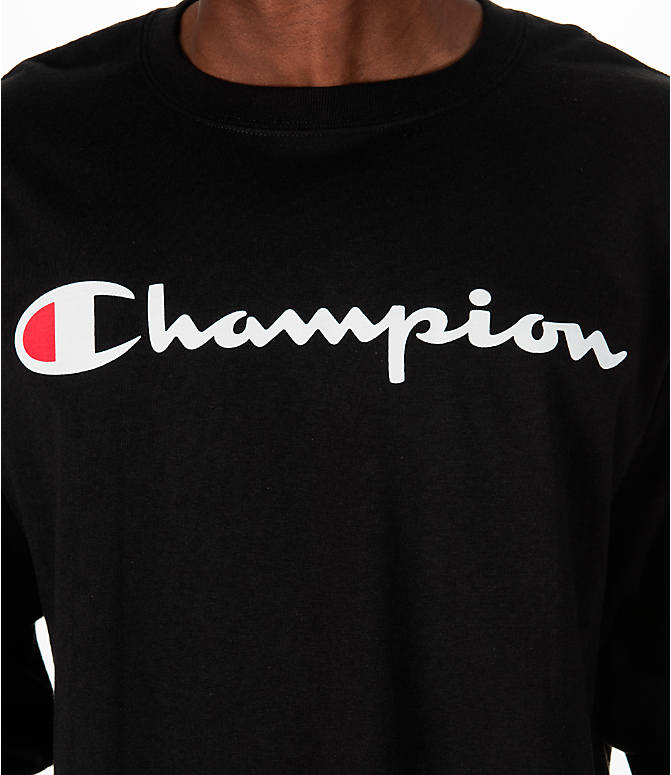 Detail 1 view of Men's Champion Classic Graphic Long-Sleeve T-Shirt in Black