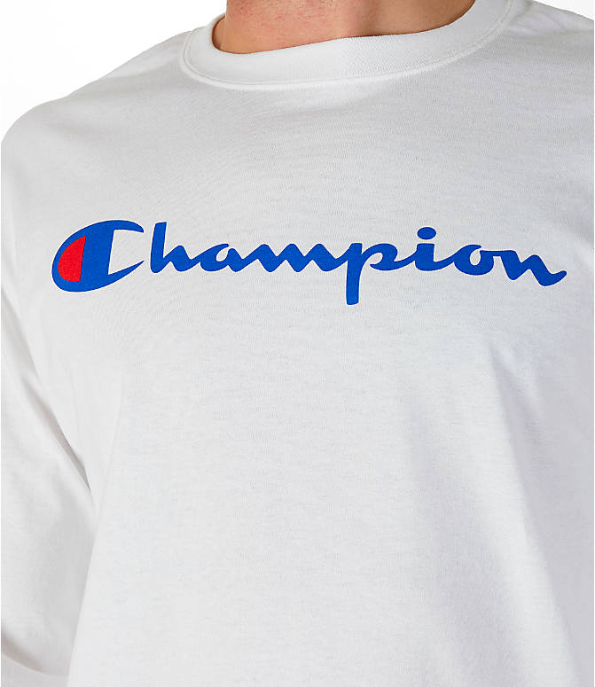 Detail 1 view of Men's Champion Classic Graphic Long-Sleeve T-Shirt in White