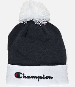 Champion Script Knit Pom Beanie Hat