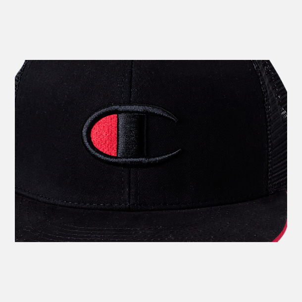 Alternate view of Champion Big C Logo Snapback Hat in Black