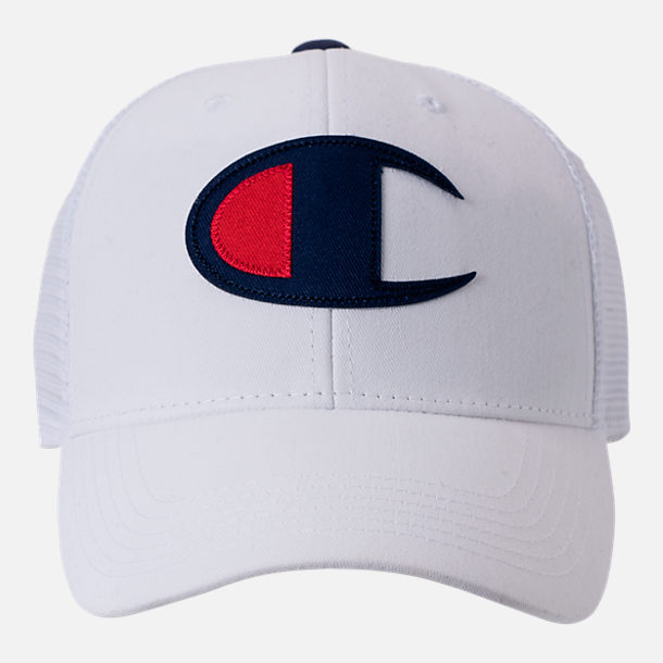 376c7e4a5b9 Back view of Champion Twill Mesh Strapback Dad Hat in White