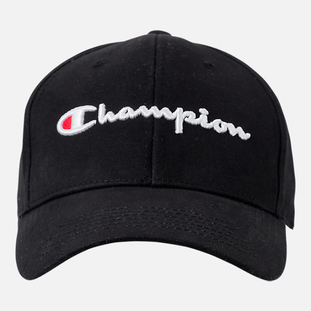 Back view of Champion Classic Twill Hat in Black