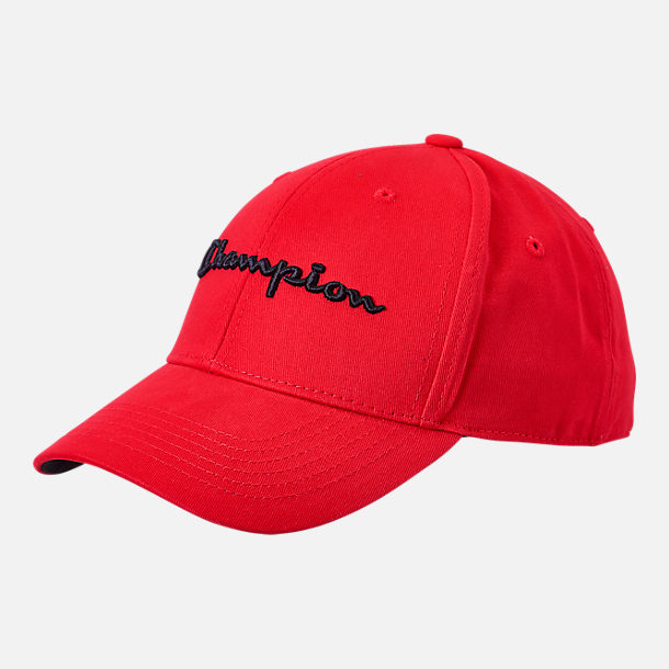 Front view of Champion Classic Twill Hat in Scarlet