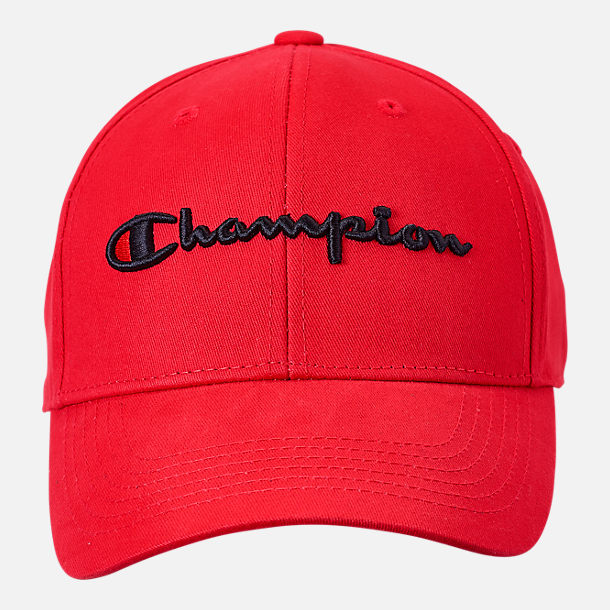 Back view of Champion Classic Twill Hat in Scarlet