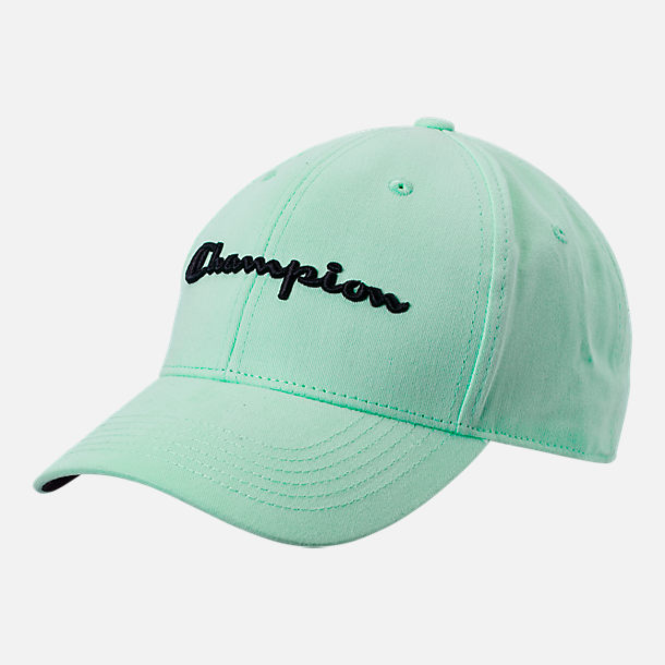 Front view of Champion Classic Twill Hat in Waterfall Green