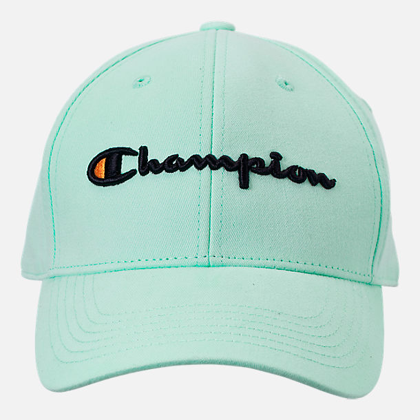 Back view of Champion Classic Twill Hat in Waterfall Green