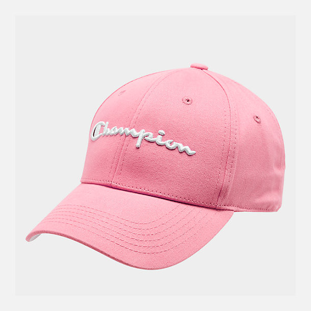 d0d8bc8cf35 Front view of Champion Classic Twill Hat in Bubblegum Pink