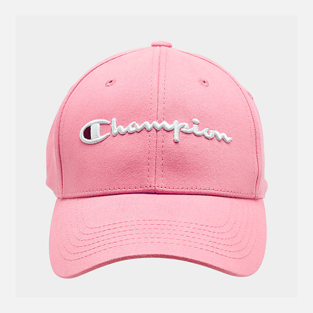 6ec7159a996 Back view of Champion Classic Twill Hat in Bubblegum Pink