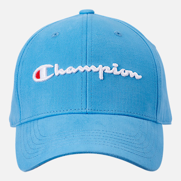 Back view of Champion Classic Twill Hat in Active Blue