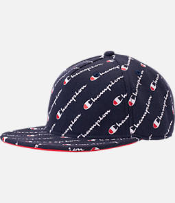 Champion Allover Print Reverse Weave Adjustable Back Baseball Hat