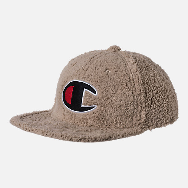 Front view of Unisex Champion Sherpa Baseball Hat in Khaki