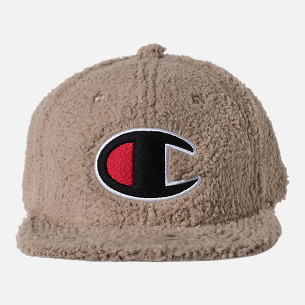 Back view of Unisex Champion Sherpa Baseball Hat in Khaki