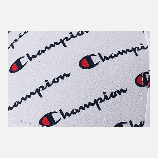 Alternate view of Champion All Over Print Classic Twill Hat in White