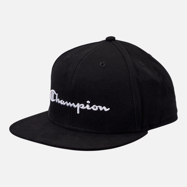 Front view of Champion Script BB Snapback Hat