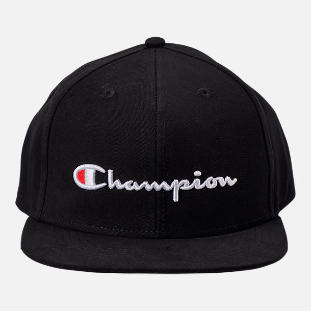 Back view of Champion Script BB Snapback Hat