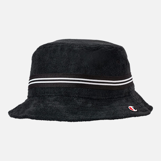 Front view of Champion Terry Bucket Hat in Black