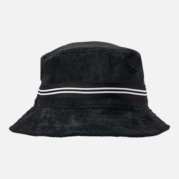 Back view of Champion Terry Bucket Hat in Black