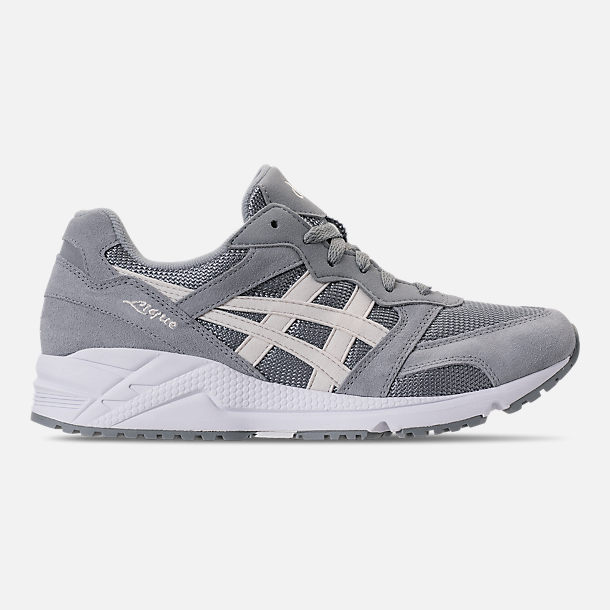 Right view of Men's Asics Tiger GEL-Lique Casual Shoes in Stone Grey/Birch