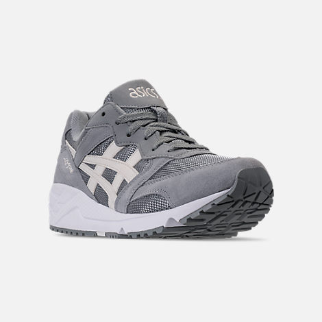 Three Quarter view of Men's Asics Tiger GEL-Lique Casual Shoes in Stone Grey/Birch