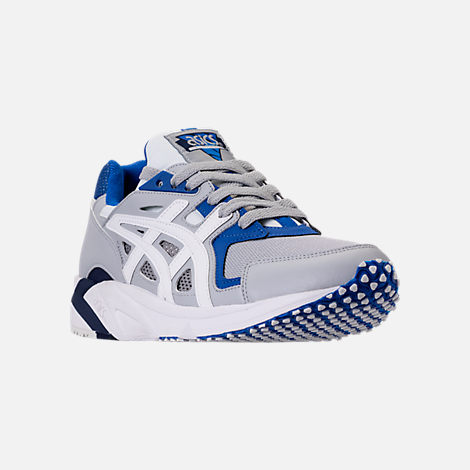 Three Quarter view of Men's Asics GEL-DS Trainer 23 Casual Shoes in Glacier Grey/White
