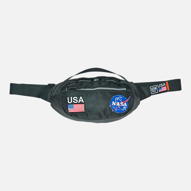Front view of Hudson NASA Meatball Fanny Pack in Black