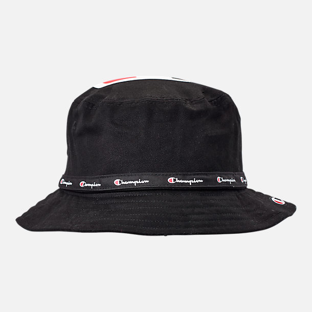 Front view of Champion Big C Bucket Hat in Black