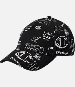 Champion Scribble Print Classic Twill Strapback Hat