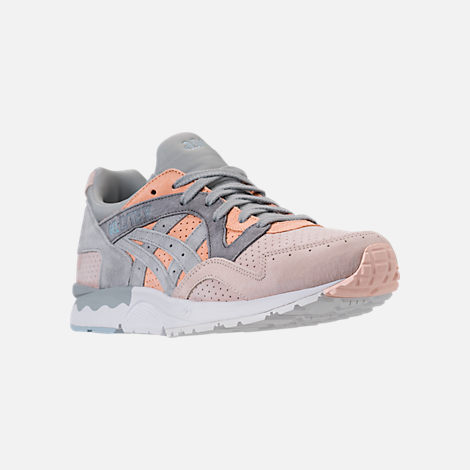 Three Quarter view of Men's Asics Gel-Lyte V Casual Shoes in Apricot Nectar