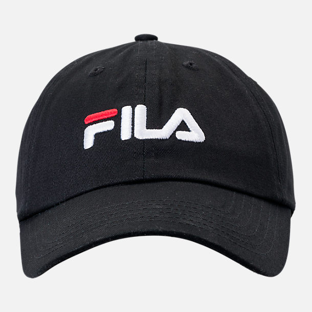 Back view of Fila Heritage Cotton Twill Hat in Black