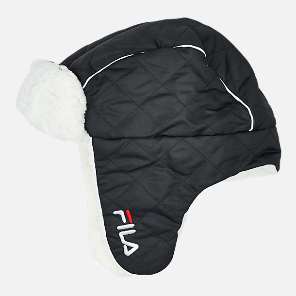 Alternate view of Unisex FILA Heritage Trapper Hat in Black