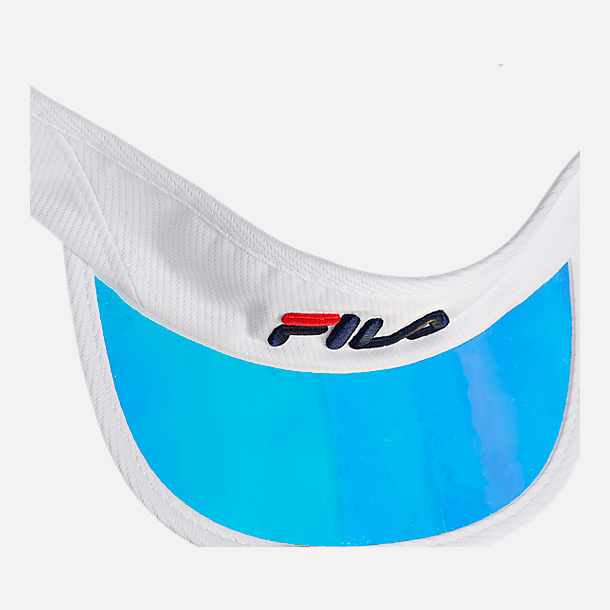 Alternate view of Fila Iridescent Bill Visor in White