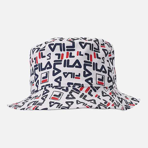 Back view of Fila Reversible Bucket Hat in White