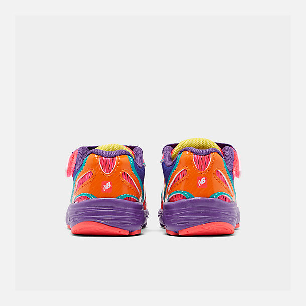 Left view of Girls' Toddler New Balance 890 Hook-and-Loop Closure Running Shoes in Rainbow