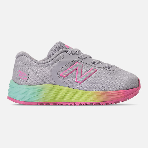 e990b1d3685af Right view of Girls' Toddler New Balance Fresh Foam Arishi V2 Hook-and-