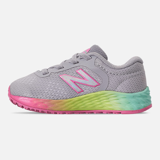 42ee2365510ae Left view of Girls' Toddler New Balance Fresh Foam Arishi V2 Hook-and-