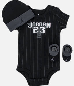 Boys' Infant Air Jordan Retro 9 Pinstripe 3-Piece Set
