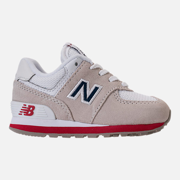 Right view of Boys' Toddler New Balance 574 Casual Shoes in Nimbus Cloud/Navy