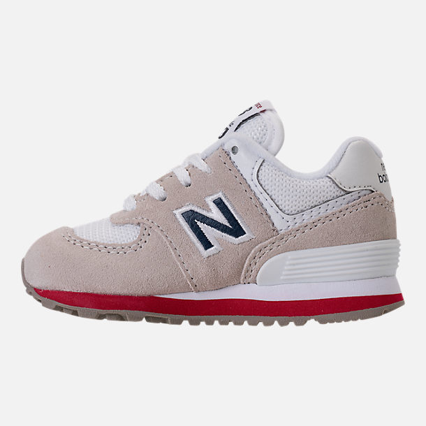 Left view of Boys' Toddler New Balance 574 Casual Shoes in Nimbus Cloud/Navy