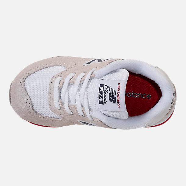 Top view of Boys' Toddler New Balance 574 Casual Shoes in Nimbus Cloud/Navy