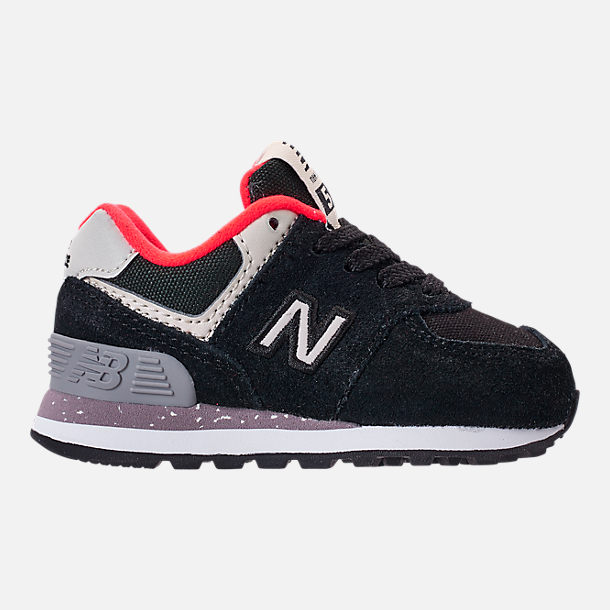 Right view of Boys  Toddler New Balance 574 Casual Shoes in Black Flame e1729df85