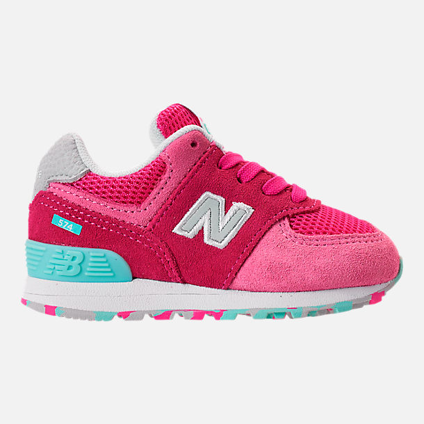 937ead45cdde6 Right view of Girls' Toddler New Balance 574 Core Casual Shoes in  Peony/Peony