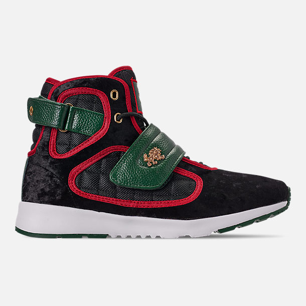 Right view of Men's Vlado Atlas 3 Casual Shoes in Black/Green/Red