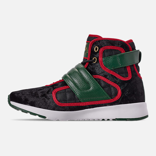 Left view of Men's Vlado Atlas 3 Casual Shoes in Black/Green/Red